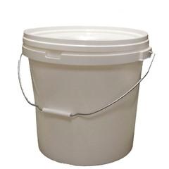 Emmer met tip deksel 25 liter wit