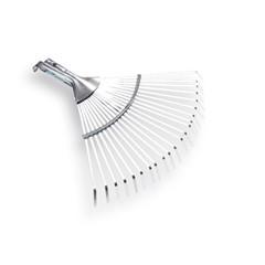 Bladhark Metaal, Met 22 Platte Tanden, Verstelbaar, Verzinkt, Zonder Steel. Breedte 28-42Cm