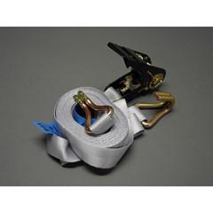 Spanband grijs met ratel en spitshaken 25 mm x 5 meter