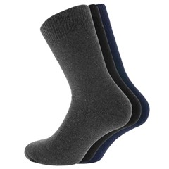 Men Socks Sokken Thermo Marine, Antraciet, Zwart