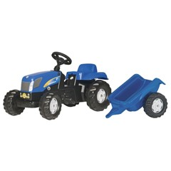 Rolly Kid New Holland TVT 190 met Aanhanger