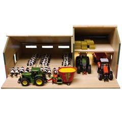 Kids Globe 610409 - Stal met Landbouwloods 1:32