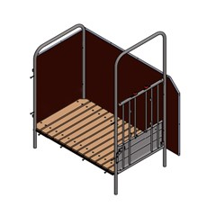 Spinder Aanbouwbox 82 Cm - Inclusief Emmer en Voederschaal