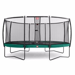 Berg Trampoline Elite+ Regular + Safety Net T-series Ø 380 cm, Groen