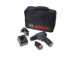Bosch 12V Schroefmachine 30Mn 2x GBA 2,0 Ah + lader GSR 12V-30