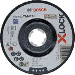 Bosch Afbraamschijf X-Lock Metal 125 x 6 x 22.23 MM