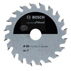 Bosch Cirkelzaagblad ACCU Standard For Wood 85x15x1.1/0.7x20T