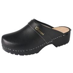 Dinan open schoenklomp PU zwart