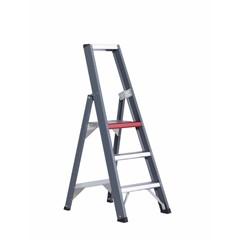 Falco enkel oploopbare trap - aluminium (gecoat)