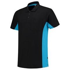 Tricorp Poloshirt Workwear 202002 180gr Zwart/Turquoise