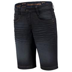 Jeans Premium Stretch Kort - Denimblue