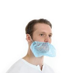 Baardmasker PP non woven blauw 100 stuks
