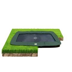 EXIT Trampoline InTerra groundlevel 214x366cm - groen