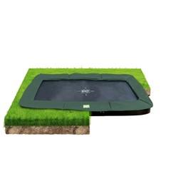 EXIT Trampoline InTerra groundlevel 244x427cm - groen