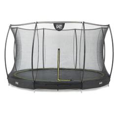 EXIT Silhouette inground trampoline ø427cm met veiligheidsnet - zwart