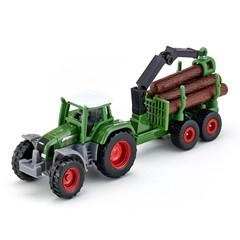 Siku 1645 - Fendt Tractor met Bos - Aanhangwagen 1:87