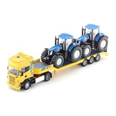 Siku 1984 - Scania Vrachtwagen met 2 Tractoren 1:50