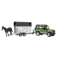 Bruder 02592 - Land Rover Defender met Paardentrailer 1:16