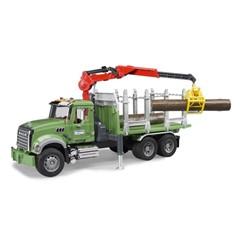 Bruder 02824 - MACK Granite Houttransporter met 3 Boomstammen 1:16