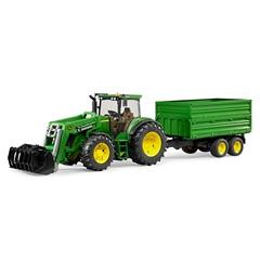 Bruder 03055 - John Deere 7930 met voorlader en trailer 1:16