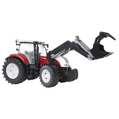Steyr CVT 6230 tractor met voorlader 1:16 Bruder