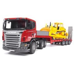 Bruder 03555 - Scania R560 Dieplader met CAT Bulldozer 1:16