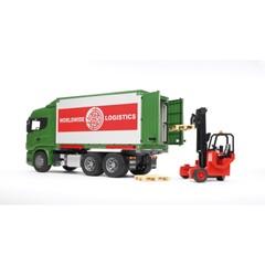 Bruder 03580 - Scania R vrachtwagen met container en heftruck 1:16