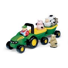 Britains 42947 - John Deere Muzikale Tractor met Aanhanger en Dieren