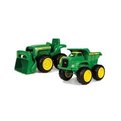 Britains John Deere Farm Toys Zandbak Kiepwagen en Tractor