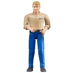 Bruder 60006 - Man met Blauwe Jeans 1:16