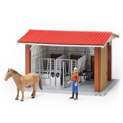 Bruder 62520 - Paardenstal met figuur, paard en toebehoren B-world 1:16