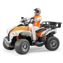 Bruder 63000 - Quad met Bestuurder 1:16 - Oranje