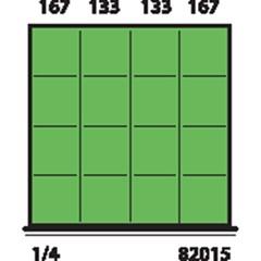 Metec Indelingsset H 100 16-Vaks 612X612 Mm 82015