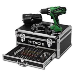 Hitachi Accu Boor-Schroefmachine 18 Volt DS18DJL Plus 100 Accessoires