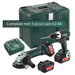 Metabo Combo Set 18 Volt BS 18 LT en W 18 LTX 125 Quick