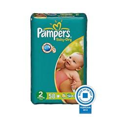 Pampers Baby dry Mini maat 2, 116 STUKS