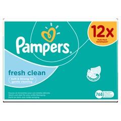 Pampers Fresh Clean Babydoekjes 12 Pakken 768 Doekjes