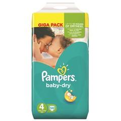 Pampers Baby Dry Maat 4, 120 Stuks