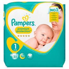Pampers Premium Protection Maat 1, 2-5 kg, 22 Luiers