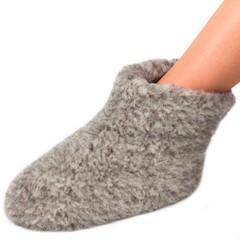 Slof 919 wol Woolwarmer kleur grijs