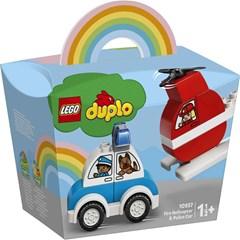LEGO DUPLO Brandweerhelikopter En Politiewagen - 10957
