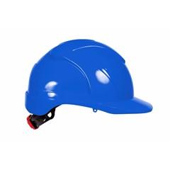 4Tecx Veiligheidshelm ABS 6P Draaiknop Blauw