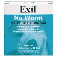 Exil Hond No Worm Exitel Plus Medium 4 tbl