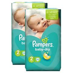Pampers Baby Dry Maat 2, 2x58 Stuks