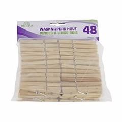Houten Wasknijpers, 48 stuks