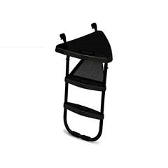 Berg Trampoline Ladder Platform + Ladder L, Zwart