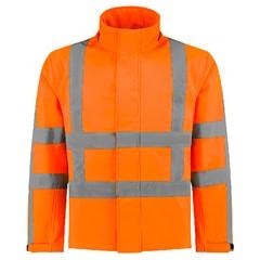 De Boer Hi-Vis Softshelljas Oranje