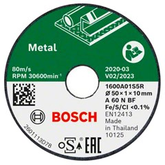 Bosch Slijpen/Borstelen 3x Slijpschijf for metal 50mm