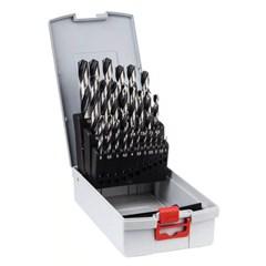 Bosch 25-delige set spiraalboor HSS PointTeQ ProBox