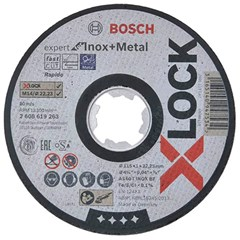 Bosch X-LOCK Slijpschijf Expert for Inox & Metal 115x1x22.23mm, recht